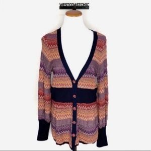 Anthropologie Moth Fiamma Chevron Knit Cardigan